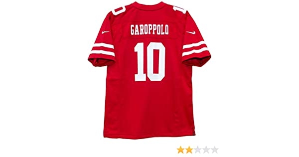 34bffc981 Amazon.com   Nike Jimmy Garoppolo San Francisco 49ers Team Color Youth Game  Jersey   Sports   Outdoors