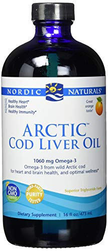 Nordic Naturals Arctic CLO - Cod Liver Oil Promotes Heart and Brain Health, Supports Immune and Nervous Systems, Orange, 16 Fl Oz (Pack of1)