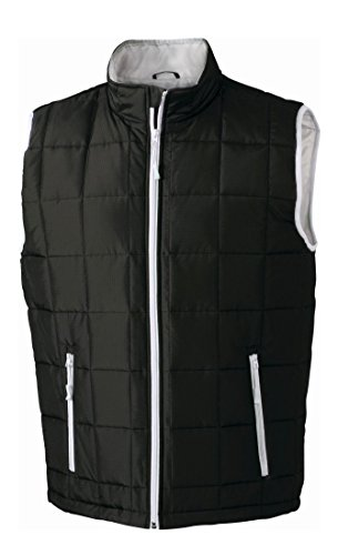 Light Vest Caldo Uomo Gilet Thinsulate™ Weight Black Men's Con silver Imbottito Padded UqFnB6