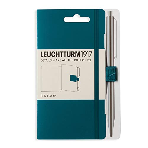 Green Loops - Leuchtturm1917 Self Adhesive Pen Loop Elastic Pen Holder - Pacific Green