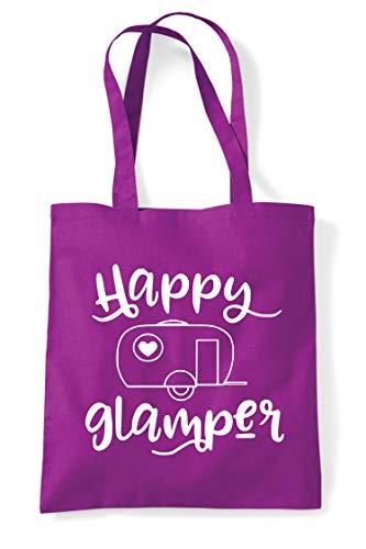 Campervan Magenta Camper Bag Shopper Statement Tote Camping Happy SOE6x