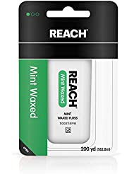 Reach Waxed Dental Floss for Plaque and Food Removal, Refreshing Mint Flavor, 200 Yards, 1 Count