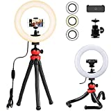 Ring Light for Phone, Phone Tripod Stand for Cell Phone, iPhone, Samsung,3-6.5 inches Phone - 12'' Light 12'' Tripod