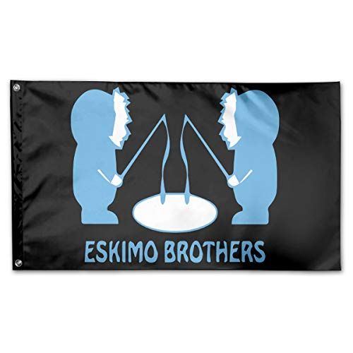 PAOMEHAW Eskimo Brothers Family Flag Garden Flag Party Flag 100% Polyester Fiber House -