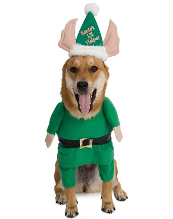 Santa's Little Helper Elf Pet Christmas Costume Size X-Large (XL), My Pet Supplies