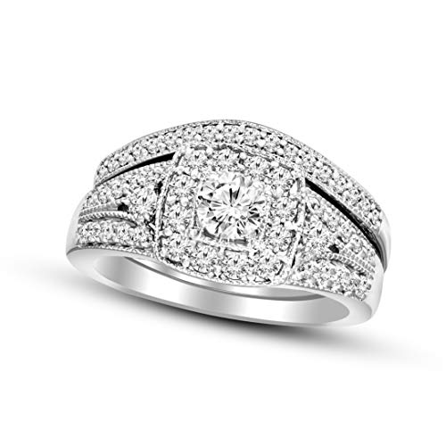 100% Pure Diamond Ring 1/4 ct IGI Certified Lab Grown Diamond Ring 10K White Gold Round Cut SI-GH Quality Real Diamond Ring For Women (1/4 ct, Diamond Ring) (Jewelry Gifts For Women) ()