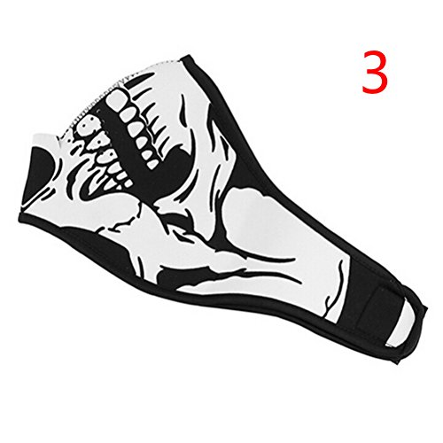AOWA 1pc Skull Half Face Mask Protection for Motorcycle Ski Skate Cool Anti-dust Skeleton Mask,Dark for $<!--$3.79-->