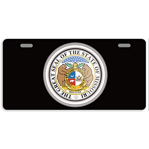 - Eprocase License Plate Cover States of USA Seals Missouri Automotive License Plate Novelty Car Tag Metal Decorative Tags Auto Sign Front License Plates 2 Holes 11.8 x 6.1 Inches