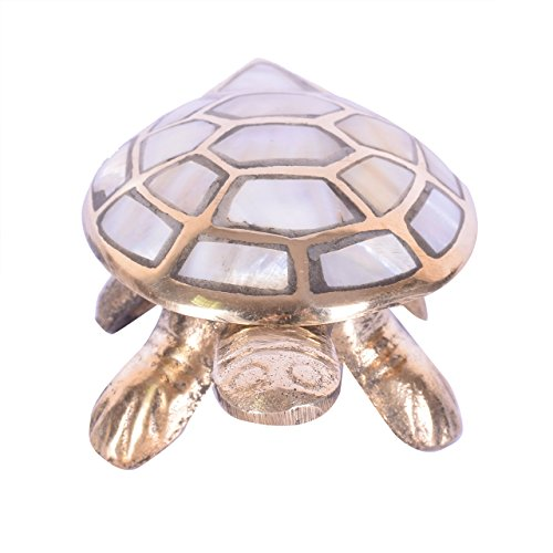 Brass Turtle - Ryme Vastu Feng Shui Wish Full Filling Brass Tortoise with Secret Wish Compartment