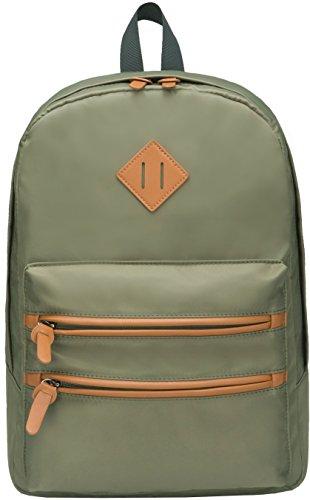 Gysan Waterproof Travel Laptop Backpacks 15.6 for Womens Mens Boys Girls School Bookbags, Green