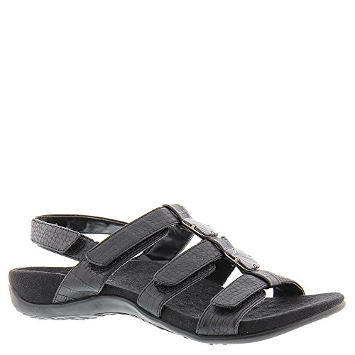 Negro Amber Rest Cocodrilo 44 Synthetic Vionic Womens Sandals Hq0BAnSST