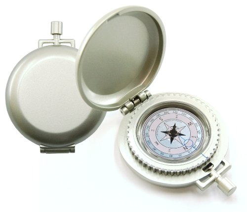 R&K K&R Nobilis Pocket Compass, Metallic Silver (Compass Marble)