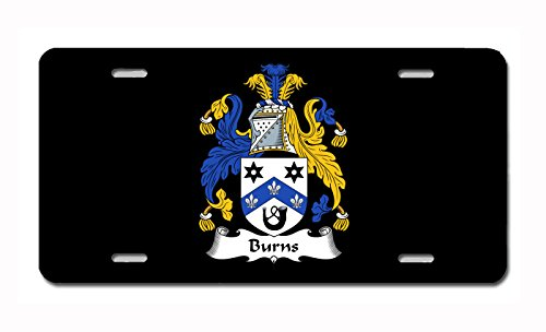 (Carpe Diem Designs Burns Coat of Arms/Burns Family Crest (Ireland) License/Vanity Plate - Made in The U.S.A.)