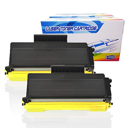 Inktoneram Compatible Toner Cartridges Replacement for Brother TN580 TN550 TN-580 TN-550 DCP-8060 DCP-8065 DCP-8065DN HL-5240 HL-5250 HL-5250DNT HL-5280 HL-5280DW MFC-8460N MFC-8660DN MFC-8670DN (2PK)