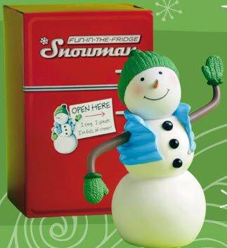 LPR2323 Hallmark Fun in the Fridge talking, singing snowman