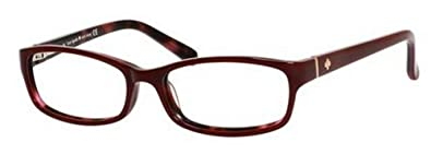 6ece89b059 Amazon.com  Kate Spade Narcisa Eyeglasses-0W73 Dark Red Pink ...