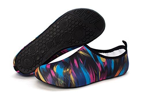 norocos Women's Lightweight Water Shoes Men's Soft Quick-Dry Aqua Socks Beach Swimming Surf Yoga 012camo