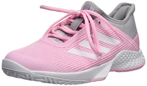 adidas Women's Adizero Club, Light Granite/White/True Pink 8.5 M US