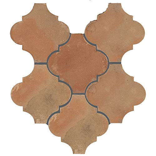 "FGDTRLTC Linter Spanish Terra Cotta Ceramic Floor & Wall Paving, 6"" x 6"", Brown Tile"