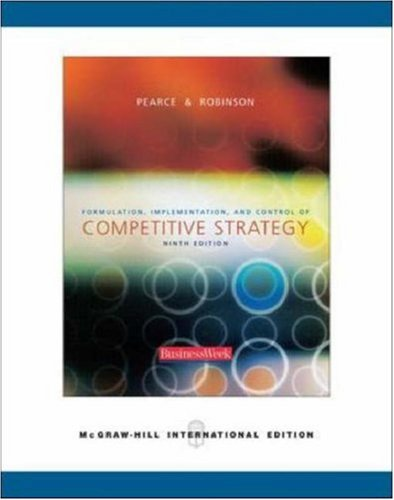 Download Formulation, Implementation and Control of Competitive Strategy: With Powerweb, Olc and Business Week Card pdf