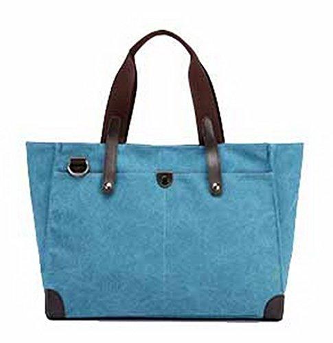 Mode Bleu Sacs Femme Bandoulière Toile Zippers Sacs VogueZone009 CCAFBP180749 fourretout à Aqwv5CZZ7n