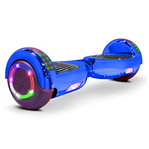 V-Fire Electric Self-Balancing Scooter with Bluetooth, Chrome Blue (UL2272 Certified)
