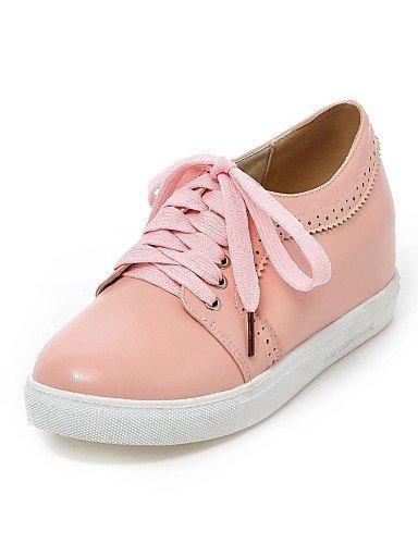 cn37 7 Vestido Blanco Oficina 5 eu37 Tacón Trabajo pink Punta de Negro Beige pink Rosa ZQ 5 5 Zapatos 7 5 Redonda cn38 uk4 y mujer Oxfords 5 uk5 eu38 eu37 5 us7 us6 Plano beige us6 uk4 Semicuero 8qCZx4xnwP