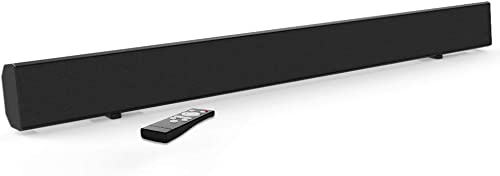 TV Sound Bar Meidong Sound Bars for TV 2.0 Channel Soundbar Wireless Bluetooth and Wired Home Theater TV Speaker Surround Sound System 30 Optical RCA Aux Remote Control Wall Mountable