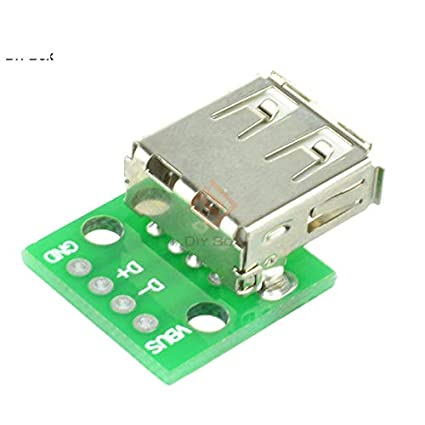 2 x Type A DIP Female USB To 2.54mm PCB Board Adapter Converter For Arduino Neu