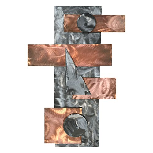 7055 Inc Artisan Strategy Metal Wall Art, Polished Copper