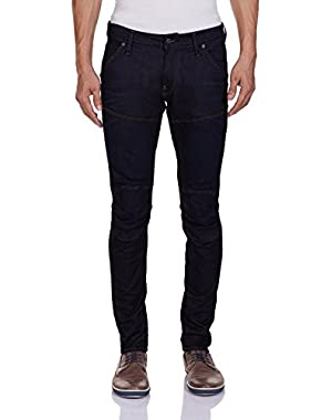 Men's 5620 3D Super Slim-Fit Jean In Visor Stretch Denim Dark Aged