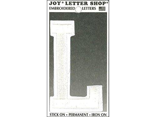 Joy JOY36012 Applique Letter Iron On Varsity White L, 3