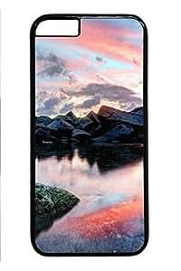 iPhone 6caso, plástico duro Material de policarbonato borde negro Natural Scenery Christamas regalo imagen Durable Slim Fit–Halloween regalo Carcasa para iPhone 6-amazing estanque 1