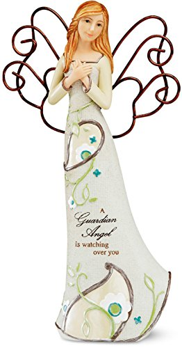 Perfectly Paisley Guardian Angel Figurine by Pavilion, 9-Inch Tall, Inscription a Guardian Angel Is Watching Over ()