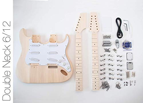 DIY Electric Guitar Kit - Double Neck 6 String 12 String Guitar (Best Double Neck Guitar)