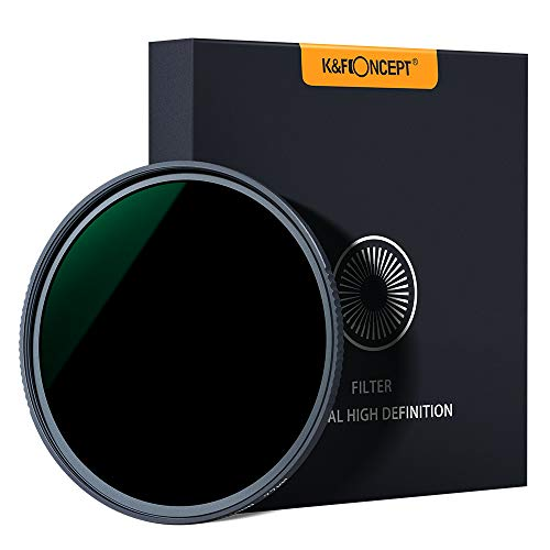 K&F Concept 82MM Neutral Density Lens Filter 10 Stops ND 1000 Filter HD 18 Layer Neutral Grey ND Lens Filter with Multi-Resistant Nano Coating