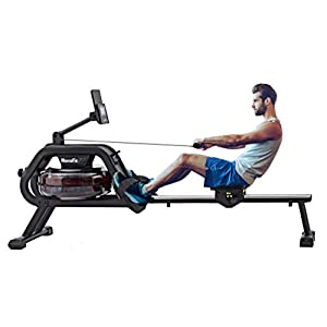 Well-Being-Matters 41UqNPxja4L._SS300_ HouseFit Water Rower Rowing Machines for Home use 330Lbs Weight Capacity Row Machine Exercise with LCD Display and iPad…