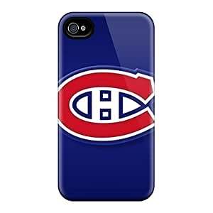 Anti-Scratch Hard Phone Cases For Iphone 4/4s With Allow Personal Design High Resolution Montreal Canadiens Image AlissaDubois