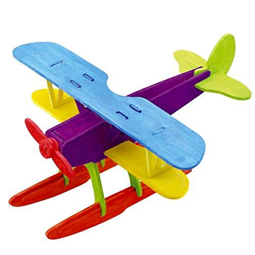 sterxy Robotime jp209b 3D Holz Puzzle Bausatz Fahrzeugmodell, Woodcraft Gemälde Flugzeug Wasserflugzeug