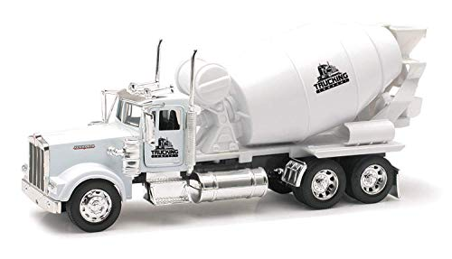 Shop72 Personalized Diecast NewRay 1:32 Scale Kenworth W900 Cement Mixer with Logo or Name for Promotional Use - White