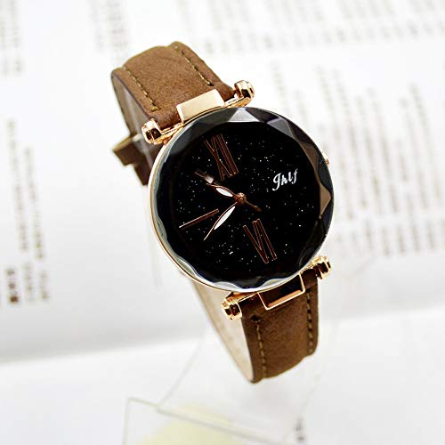 Pocciol 2019 Luxury Watch Womens Casual Watch with Leather Strap Band Analog Quartz Starry Sky Wristwatch for Ladies (Brown) by Pocciol Cheap-Nice Watch (Image #2)