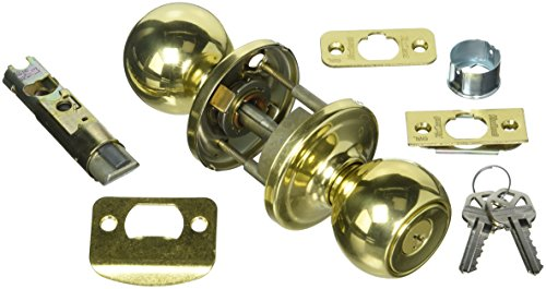 Kwikset 740CA-3SGC Circa Entry Door Lock Smart Key Bright Brass Finish with New Chassis