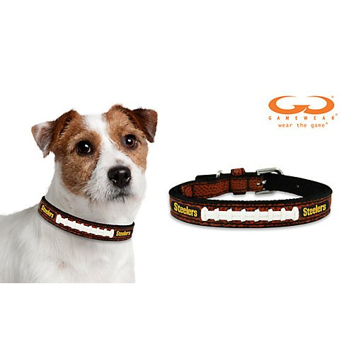 NFL Pittsburgh Steelers Leather Dog Collar at Steeler Mania