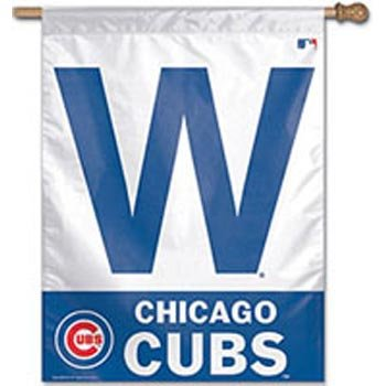 (MLB Chicago Cubs 27-by-37-Inch Vertical Flag-W Logo)