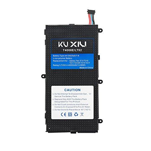 Kuxiu Internal T4000E Replacement Battery for Samsung Galaxy Tab 3 7.0 T210 T211 T217 T2105 4000mAh