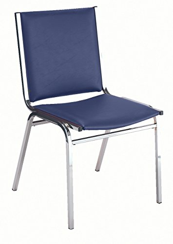 ess Stacking Chair, Commercial Grade, 1-Inch, Navy Vinyl, Made in the USA (Navy Stacking Chair)