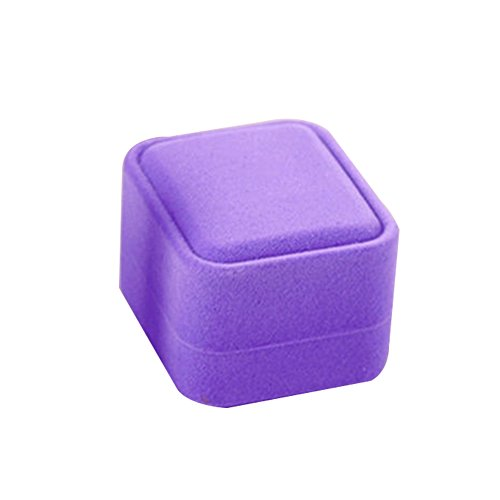 Afco Jewelry Necklace Ring Earring Display Box Velvet Jewelry Storage Case Gift Box (Lilac Box)