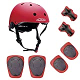 KAMUGO Kids Youth Adjustable Comfortable Helmet with Sports Protective Gear Set Knee/Elbow/Wrist Pads