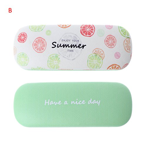 Amrka Protable Hard Eye Glasses Case Sunglasses Box with Fruit Printing Pattern Eyewear Protector Box Pouch Bag for Children Girls (Hard Fruits)