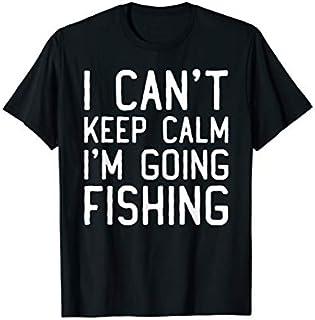 Cool gift I Can't Keep Calm I'm Going Fishing  Fishing  Women Long Sleeve Funny Shirt / Navy / S - 5XL